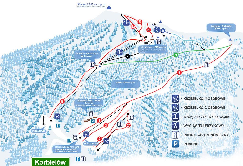 Narty Pl 2 Pilsko Korbielow 10 Najdluzszych Tras Zjazdowych W